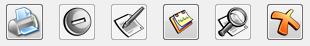 Imagen de barra botones en un formulario de ficha